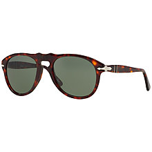 Buy Persol PO0649 Aviator Sunglasses, Tortoise/Grey Online at johnlewis.com