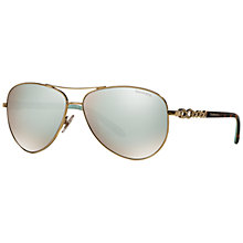 Buy Tiffany & Co TF3049B Aviator Sunglasses, Silver Online at johnlewis.com