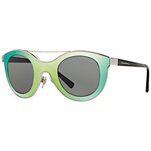 Buy Giorgio Armani AR6033 Round Sunglasses, Silver Online at johnlewis.com