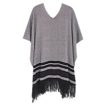 Buy Violeta by Mango Striped Cotton-Blend Cape, Black Online at johnlewis.com