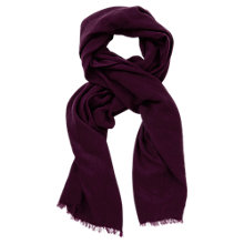 Buy Oasis Textured Scarf, Burgundy Online at johnlewis.com