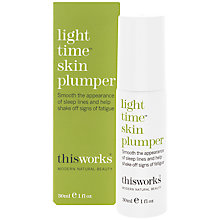 Buy This Works Light Time Skin Plumper, 30ml Online at johnlewis.com