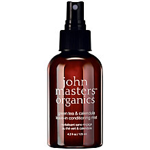 Buy John Masters Green Tea & Calendula Leave-in Conditioning Mist, 125ml: With Free Gift Online at johnlewis.com