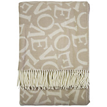 Buy Emma Bridgewater Love Letter Print Throw, Grey Online at johnlewis.com
