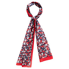 Buy Viyella Silk Blend Floral Scarf, Red/Blue Online at johnlewis.com