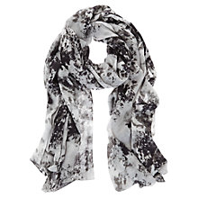 Buy Mint Velvet Anise Print Scarf, Grey Online at johnlewis.com