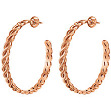 Buy Folli Follie Apeiron Hoop Earrings, Rose Gold Online at johnlewis.com