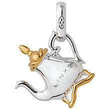 Buy Links of London Sterling Silver Tea Pot Charm, Silver/Gold Online at johnlewis.com
