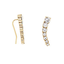 Buy kate spade new york Dainty Gold Plated Crystal Ear Pin Gold/Clear Online at johnlewis.com