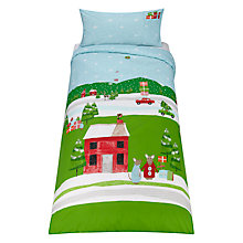 Buy little home at John Lewis Christmas Mice Duvet Cover and Pillowcase Set, Single Online at johnlewis.com
