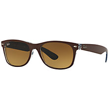 Buy Ray-Ban RB2132 New Wayfarer Bicolor Sunglasses Online at johnlewis.com