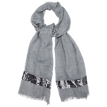 Buy Phase Eight Sienna Sequin Scarf, Denim Online at johnlewis.com
