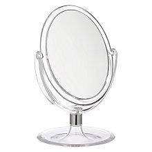 Buy John Lewis Clear Plastic Tilting Pedestal Mirror Online at johnlewis.com