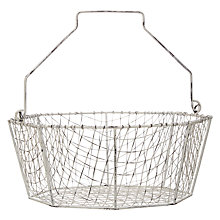 Buy John Lewis Coastal Wire Woven Basket with Handle Online at johnlewis.com