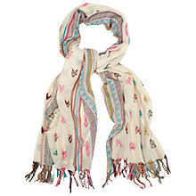 Buy White Stuff Heart Jacquard Scarf, Multi Online at johnlewis.com