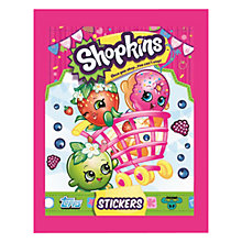 Buy Shopkins Stickers, Pack of 5, Assorted Online at johnlewis.com