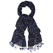 Buy White Stuff Raindrop Scarf, Navy Online at johnlewis.com