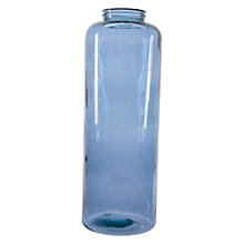 Buy Decoris Tall Glass Cylinder Vase, Blue Online at johnlewis.com