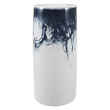 Buy John Lewis Water Pattern Large Tealight Holder, Blue/White Online at johnlewis.com