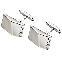 Buy BOSS Klaus Geo Logo Cufflinks, Silver Online at johnlewis.com