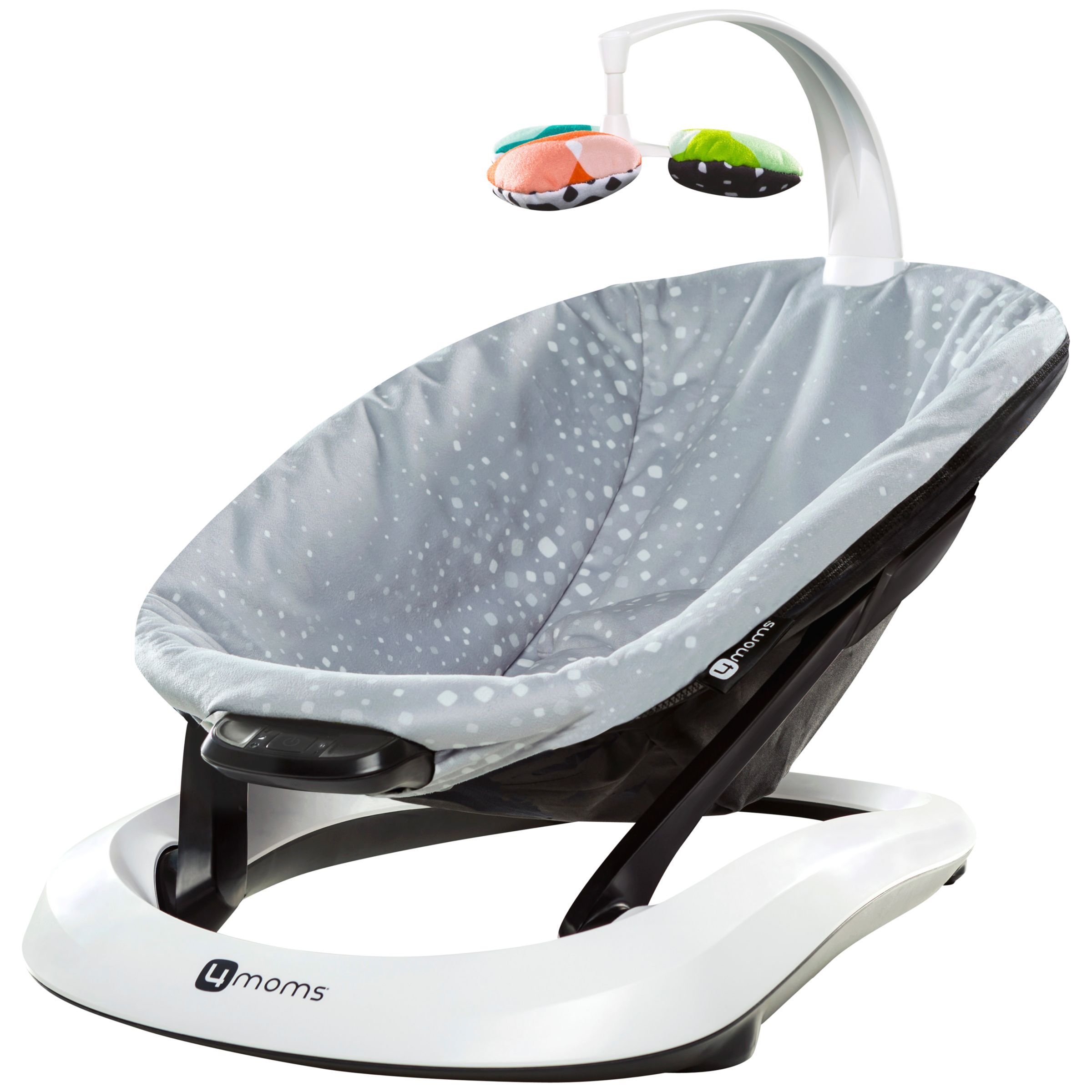 4Moms 4Moms BounceRoo Baby Bouncer, Silver Plush