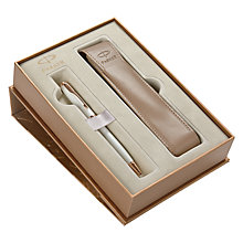 Buy Parker Sonnet Ballpoint Pen Set, Pearl Online at johnlewis.com