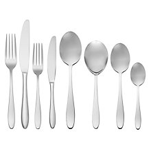Buy John Lewis Luna Cutlery Set, 44 Piece Online at johnlewis.com