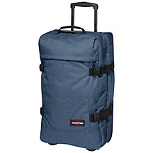 Buy Eastpak Tranverz 2-Wheel 67cm Medium Suitcase, Double Denim Online at johnlewis.com