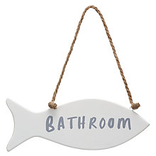 Buy John Lewis Fish Bathroom Sign Online at johnlewis.com