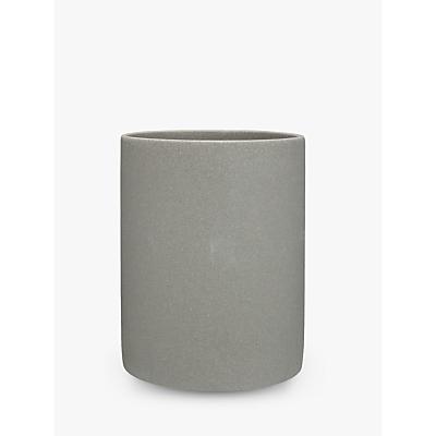 John Lewis Dune Bathroom Bin, Grey