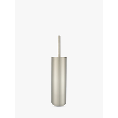 John Lewis Toilet Brush and Holder, Two Tone Stainless Steel
