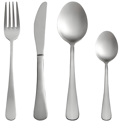 John Lewis Cafe Cutlery Set, 16 Piece