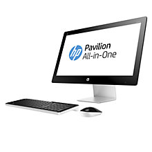 "Buy HP Pavilion 23-q170na All-in-One Desktop PC, Intel Core i7, 8GB RAM, 2TB, 23"", Black Online at johnlewis.com"