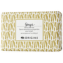 Buy Origins Ginger Savory Bath Bar, 200g Online at johnlewis.com