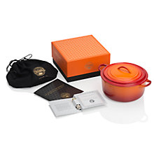 Buy Le Creuset Limited Edition 90th Anniversary Cast Iron Cocotte, 22cm, Flame Online at johnlewis.com