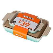 Buy Le Creuset 2-piece Rectangular Dishs, Cool Mint Online at johnlewis.com