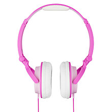 Buy KitSound My Doodles Children's Noise Limiting On-Ear Headphones, Pink Unicorn, in Partnership With Cancer Research UK Online at johnlewis.com