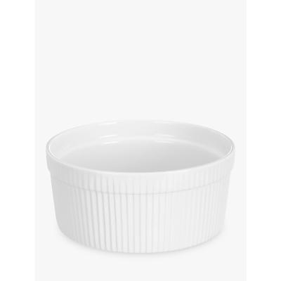 John Lewis Porcelain Souffle Dish, 210cl