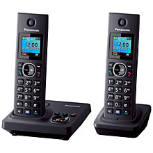 Buy Panasonic KX-TG7862 Digital Cordless Telephone with LCD TFT Colour Screen, Noise Reduction and Key Finder Compatibility, Twin DECT Online at johnlewis.com