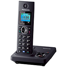 Buy Panasonic KX-TG7861 Digital Cordless Telephone with LCD TFT Colour Screen, Noise Reduction and Key Finder Compatibility, Single DECT Online at johnlewis.com
