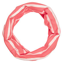 Buy Seasalt Poldue Stripe Handyband Round Scarf, Papaya/White Online at johnlewis.com