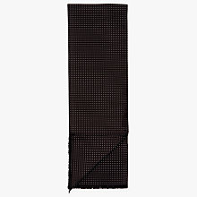 Buy John Lewis Dot Silk Dress Scarf, Black Online at johnlewis.com