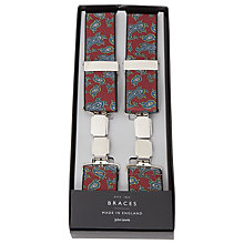 Buy John Lewis Medallion Braces, One Size, Wine Online at johnlewis.com