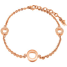 Buy Folli Follie Classy Chain Bracelet, Rose Gold Online at johnlewis.com