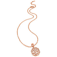 Buy Folli Follie Santorini Flower Short Pendant, Rose Gold Online at johnlewis.com