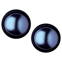 Buy Links of London Effervescence Large Frehswater Pearl Stud Earrings, Black Online at johnlewis.com
