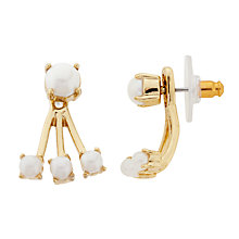 Buy kate spade new york Dainty Sparklers Faux Pearl Ear Jackets, Cream/Gold Online at johnlewis.com