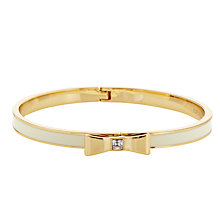 Buy kate spade new york Glass and Enamel Hinged Bow Bangle Online at johnlewis.com