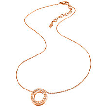 Buy Folli Follie Classy Short Necklace, Rose Gold Online at johnlewis.com