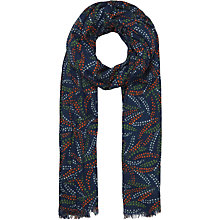 Buy Seasalt Berry Brunch Cotton Scarf, Navy/Multi Online at johnlewis.com